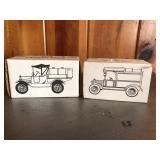 Pair of Diecast Banks 1918, 1913 Ertl