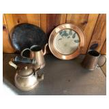 5 pcs of vintage copper cookware