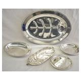 5 pcs. Silver Plate Serving Dishes