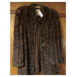Maya Gus mayer co Fur ladies coat S/M