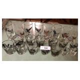 21pcs of glasses all with Ducks 10pcs artists sign