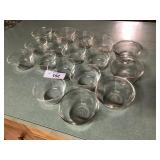 17pcs Glass custard cups FireKing, Pyrex