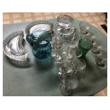 Large lot of misc glass items