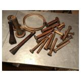 Early lot of Wood Yarn spools, great decor