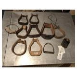 11pcs of Antique Horse Stirrups exibited fair