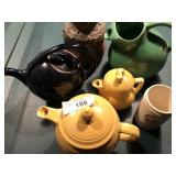 Lot of Pottery teapots & Advertising stoneware