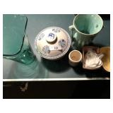 8pcs, McCoy 4pcs, Advertising stoneware ++