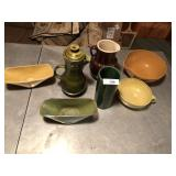 7pcs of pottery, vases & pitchers