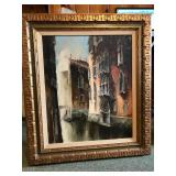 Original Oil on Canvas Italian scene signed Tony