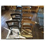 8pcs Vintage Chairs in var condition
