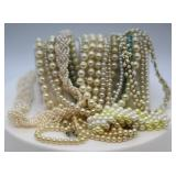 Vintage Costume Pearl Necklaces & Bracelet