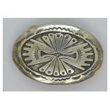 Sterling Silver Southwest Design Belt Buckle