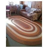 Large Oval Area rug braided 8