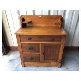 ca. 1880 circle dovetail cherry washstand