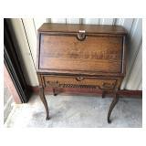 ca. 1900 Tiger Oak ladies desk
