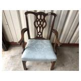 Mahogany captains chair carved