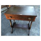 Antique one drawer parlor table