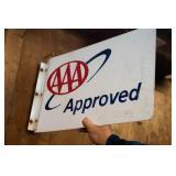 AAA Metal Flange Sign