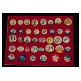 Vintage Lot of 40 President Campaign Buttons