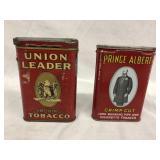 2 x Metal Tobacco Tins