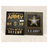 (2) Metal Army Signs