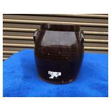 Geddens N.Y. Early brown glaze stoneware pot