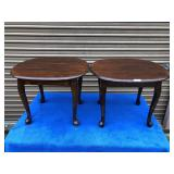 Pair of Queen ann matching side tables