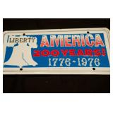 1976 Bicentennial Vanity License Plate