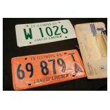 1965 and 1969 Illinois License Plates