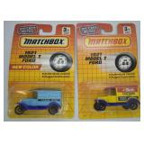 2 pcs. Matchbox Ford Model T Advertising Cars