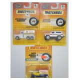 3 pcs. 1993 Matchbox Die-Cast Metal Series Vehicle