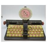 Vintage Louis Marx Dial Typewriter Toy