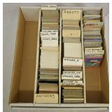 Lot of Mixed Sports Trading Cards in Slab Box