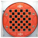 Vintage Ohio Art Pressed Steel Checkers Board
