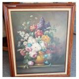 Large original oil / canvas Still life by Mayers