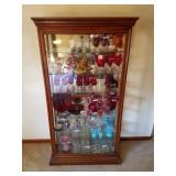 Impressive Walnut glass display cabinet only