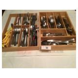 2 drawer inserts of flatware misc brands and style