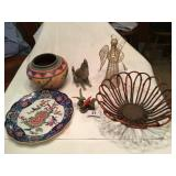 6pcs of décor, Native American style bowl ++