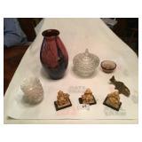 8pcs of décor nice large art glass vase
