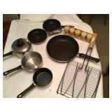8 pcs set of cookware TFAL, vintage spice set ++