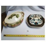 2 Pc Ceramic Pottery-One Handmade, One Wild Heathe