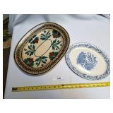 2 Pc Ceramic Platters-Wild Heather Ware Scotland &