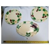 2 Ceramic Plates and 1 Platter-Pacific Handpainted
