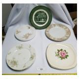 Lot of 9 China & Porcelain Plates-Theodore Havilan