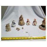 Lot of 9 Ceramic Figurines