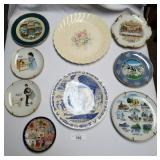 9 Vintage Collectible Plates-Patton, Norman Rockwe