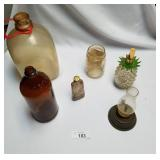 Lot of 6 Collectible Bottles & Glass Items