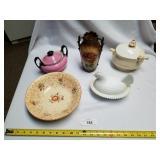 Lot of 5 Various Glass & Ceramic Items