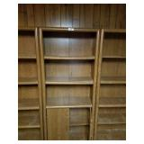 Set of Bookcases-Center has 2 Door Compartment at