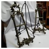 Lot of 3 Metal Display Stands, 2 Matching